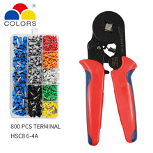 Ferrule Crimping Tool Kit - Crimper Plier w/ 800pcs Wire Ferrules Ends Terminals AWG 23-7 (0.25-10mm²)