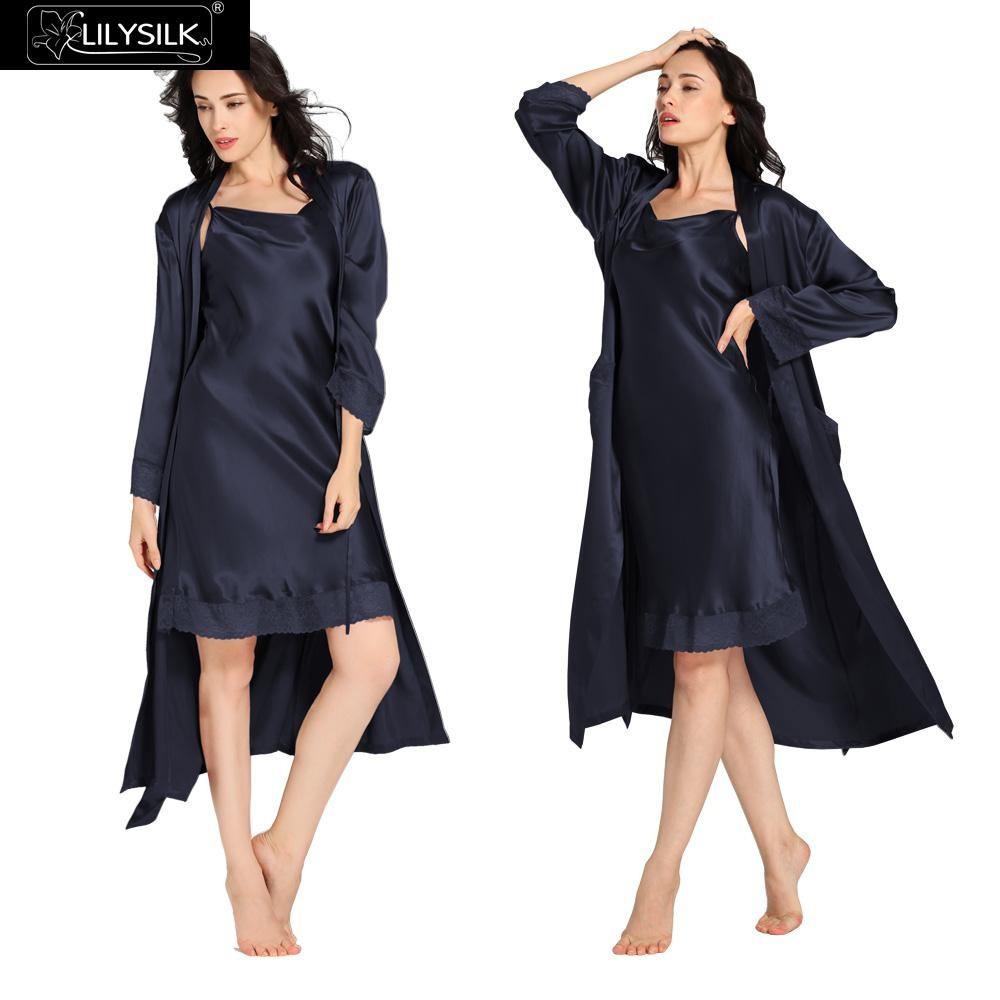 1000-navy-blue-22-momme-lace-long-silk-nightgown-&-dressing-gown-set
