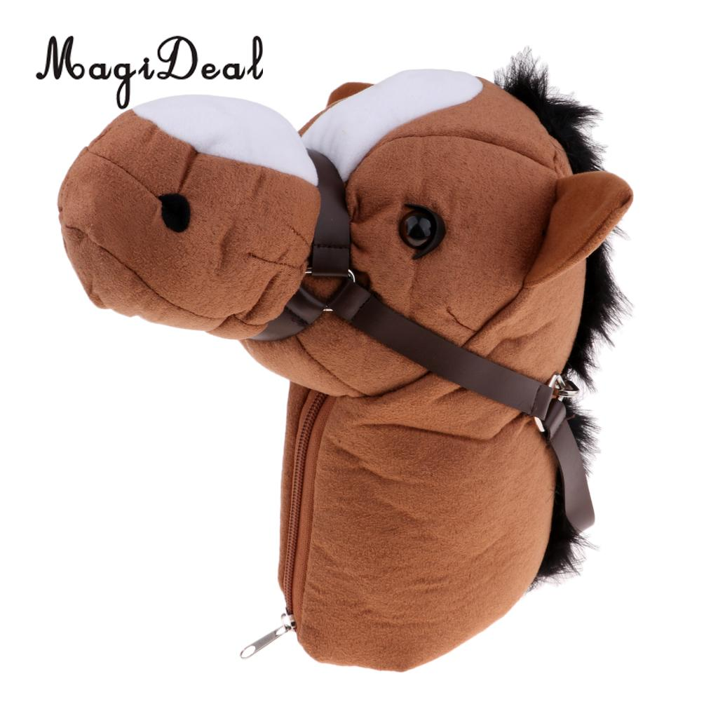 MagiDeal Premium Horse Head Golf Club Head Cover Protector Headcover & Zipper Closure