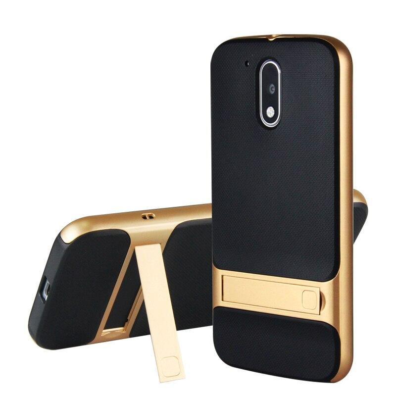 Phone Holder Capa for Moto G4 Plus case Motorola G4 case Silicone Hybrid Stand Armor for cover Motorola Moto G4 G4 Plus Coque