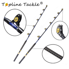 Fishing fiber glass boat trolling rod BlueSpear 100# 56 leather fore grip in china