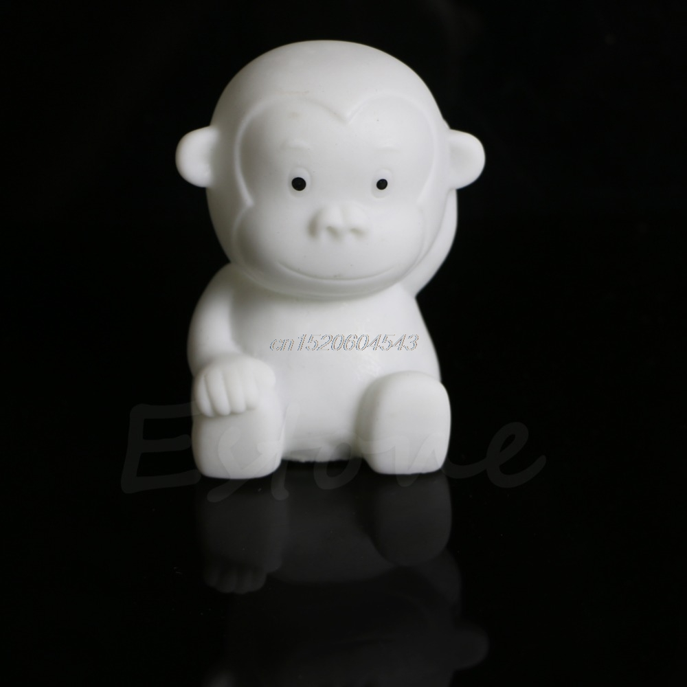 7 Color Changing Cute Kids Monkey Shape LED Lamp Night Light Bedroom Energy Saving Home  ...