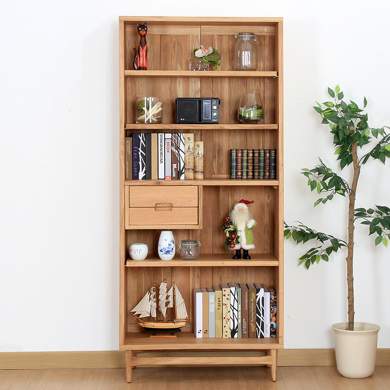 BC215 Wild Oak White Wood Cabinet Bookshelf Study European Minimalist Bookcase Shelving Lockers Shipping In Dining Room Sets From Furniture On