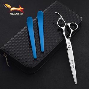 Image 3 - KUMIHO ciseaux de coiffure professionnels 440c 6.5 pouces ciseaux de coupe de cheveux 7 pouces cisaille de cheveux avec poignée offset livraison gratuite