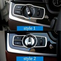 For BMW 5 Series X3 X4 F10 F25 F26 Car Headlight Switch Frame Cover Stickers Internal