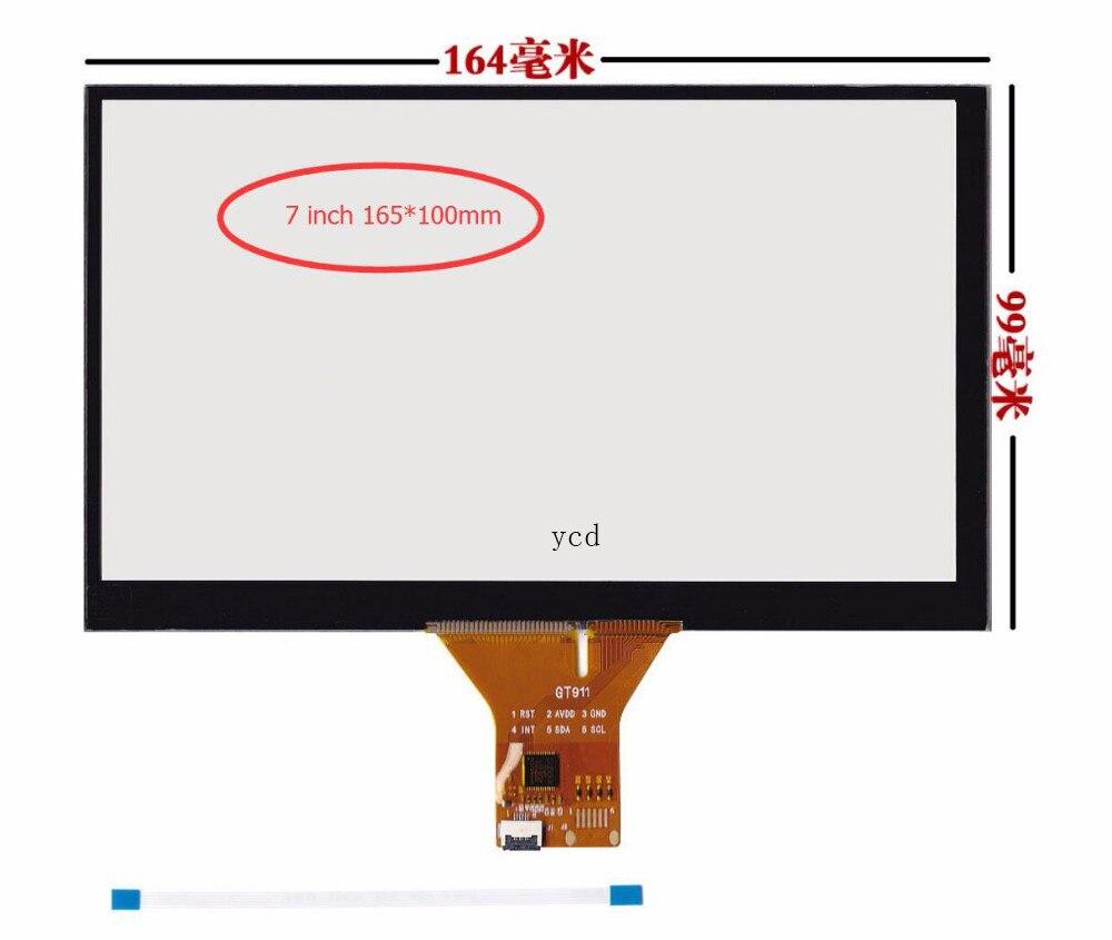Tela de toque capacitivo carro DVD de navegação de 7 polegada/GT911 6 pin/165*99/165*100mm 6 linha de tela de toque do cabo de fita