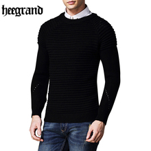 HEE GRAND Solid Color Cashmere Sweater Men New Arrival O-Neck Wool Casual Pullover Men Long Sleeve Sweaters MZL733