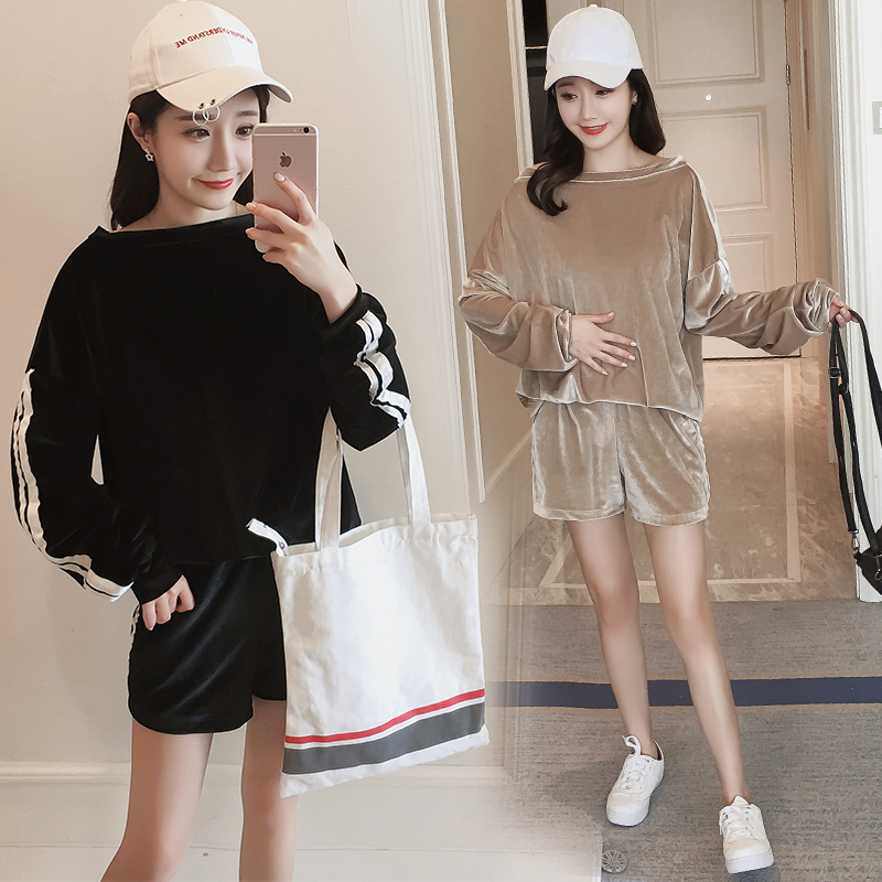 322 Maternity Set Spring Autumn Maternity Clothing T-shirt Long-sleeve Top Sports Casual Fashion Pants Pregnant Clothing hot sale spring autumn fashion beautiful style maternity tops t shirts plus size slim casual loose casual maternity clothes t s
