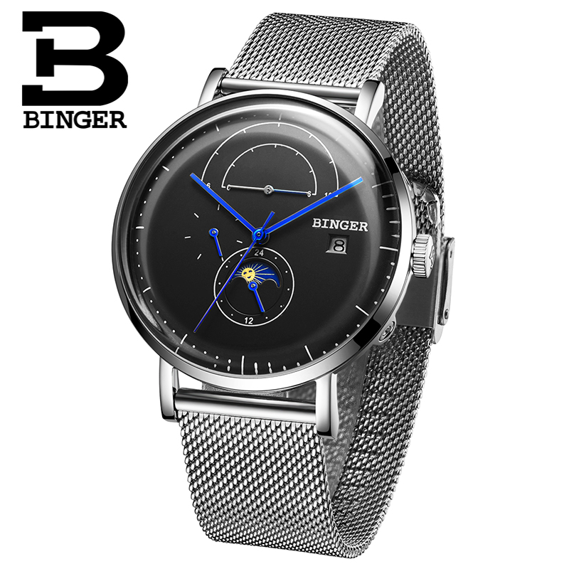 Switzerland BINGER Men Watch Luxury Brand Automatic Mechanical Mens Watches Sapphire Male Japan Movement reloj hombre B8610-6 switzerland binger watch men 2017 luxury brand automatic mechanical men s watches sapphire wristwatch male reloj hombre b1176g 6