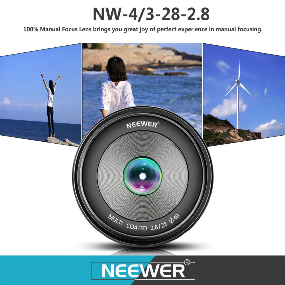 Neewer 28mm f/2.8 Manual Focus Prime Fixed Lens for OLMPUS/PANASONIC APS-C Digital Cameras As E-M1/M5/M10/E-P5E-PL3/PL5/PL6/PL7 60mm f 2 8 2 1 2x super macro manual focus lens for micro 4 3 m43 panasonic dmc gf2 gf1 g2 gf3 g5 gh4 gh3 e m5 ep 3 e pl3