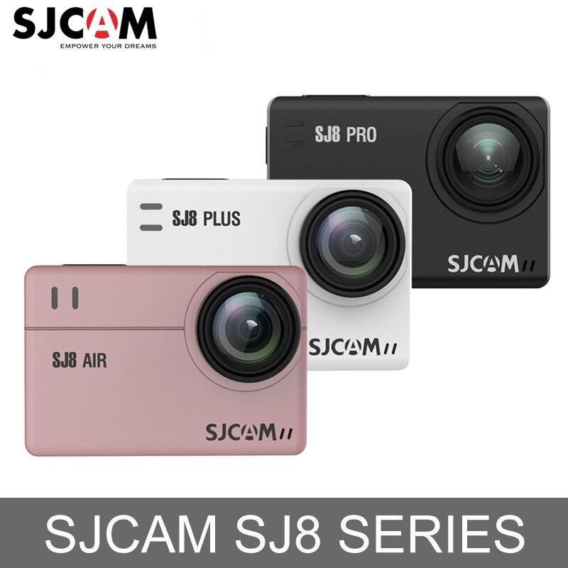 En Stock! SJCAM SJ8 Air/SJ8 Plus/SJ8 Pro 1290 p 4 k D'action Caméra WiFi Télécommande Étanche Sport DV Mini Ambarella H2 Caméra