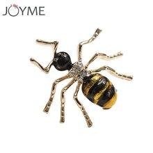 Милые Желтые и черные эмалированные яркие пожарные муравья отворот