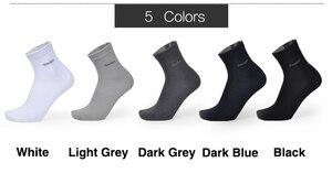 Image 2 - 2018 Men Bamboo Socks Breathable Deodorant Comfortable Anti Bacterial Casual Business Man Long Socks (5pairs / lot)