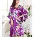 Горячие Продажи Плюс Размер Китайских женщин Искусственного Шелковый Халат Платье Ночной Рубашке Сексуальная Летом Ночная Рубашка Новый Стиль Пижамы Pijama Mujer T083