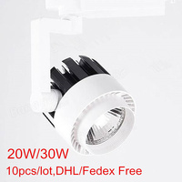 LED Track Light 20W/30W COB Spotlights 85 265V Modern Ceiling Home Wall Deco Track Rail Spot Fixture for Retail Shop Art Gallery