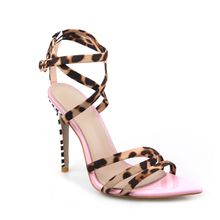 Summer High Sandals Women Cross-Tied Heels Ladies Ankle Strap Lace Up Party High Shoes Mixed Colors  Back Strap Thin Heels