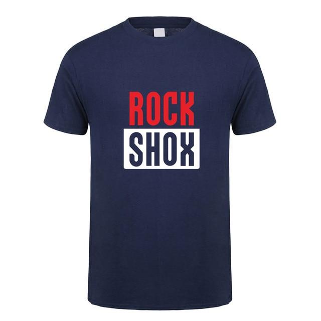 Rockshox Rock Shox T Shirt Tops Neue Mode Kurzarm Moutain MTB Biker Bicycler T-shirts Tees LH-057