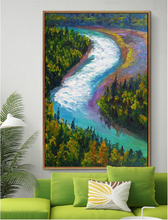Custom best quality and price self Adhesive Fabric Printable Wallpaper natural landscape oil painting for Interior Decoration