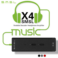 2017 Newest SMSL X4 USB Dac Portable Decoder Headphone Amplifier Amp Amplifiers OTG With Volume Control