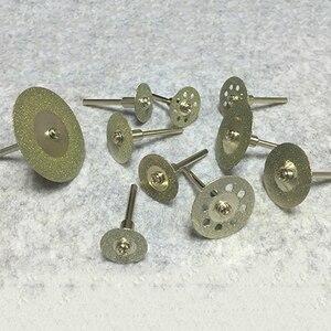 Image 2 - Heißer! 10Pcs Diamant Trennscheiben Cut off Halten Rad Set Für Dremel Dreh Werkzeug Schneiden/Schleifen/Gravur werkzeuge