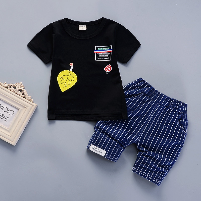 BibiCola baby boys summer clothing set children T-shirt+short pants 2pcs kids clothes boy tracksuits costume for boys child suit 2018 new cotton baby boy clothes summer toddler boys striped rompers sunhat 2pcs clothing set gentleman suit kids clothes