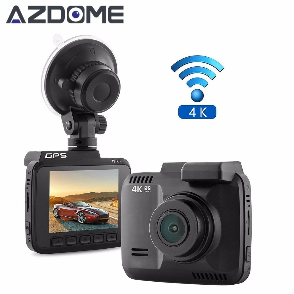 GS63H Car Dash Cam 4K 2880x2160P Dash Camera Built in GPS Car Camera with WiFi G-Sensor Loop Recording Parking Monitoring Azdome