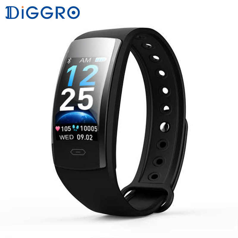 Diggro QS90 PLUS Blood Pressure Smart Bracelet Heart Rate Monitor Color Touch IP67 Fitness Tracker Smartband For Andriod IOS
