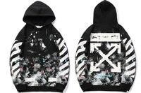 off white harajuku hoodie men stranger things hip hop