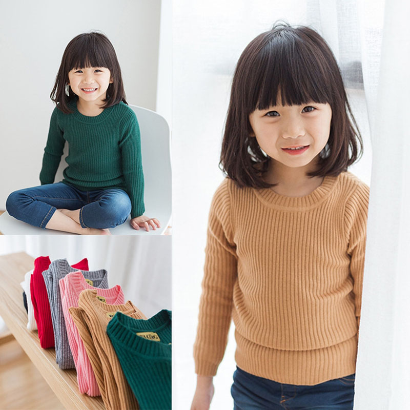 baby girl kids ribbed sweater winter autumn knitted clothing pullover tops boy kids children infant toddler jumper grey knit pocket front rib knit boxy jumper
