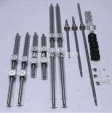 6 sets linear guide rail SBR20-300/1200/1200mm+4 SFU1605-350/1250/1250/1250mm ballscrew+4 BK/BK12+4 Nut housing+4 Coupler cnc