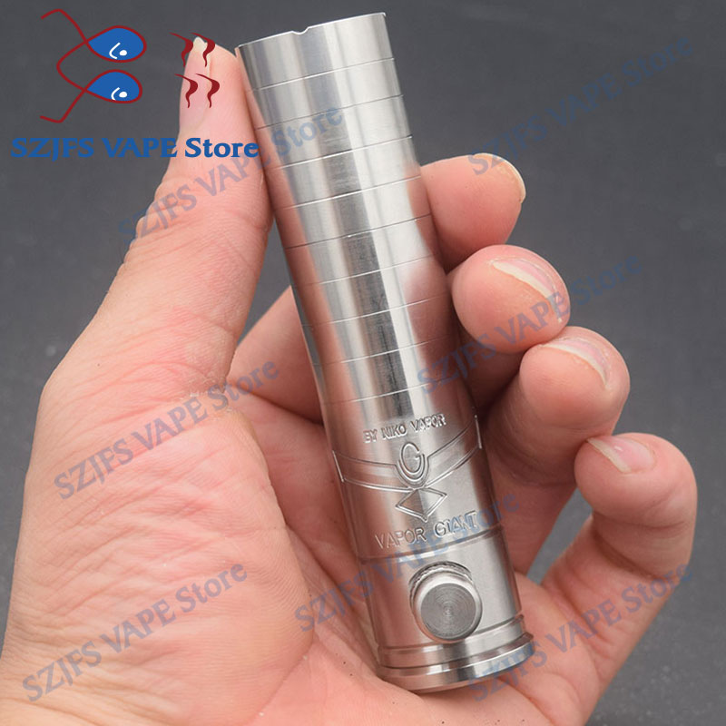 Mechanical Mod Kit Electronic Cigarette Mech Mod 18650 Battery Brass 32.5/23mm 316ss Steam Vaporizer Vape VS Sxk Sob Mod Kit