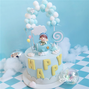 Image 3 - Boy Girl Pilot Decorations Cloud Balls Cake Toppers for Valentines Day Childrens Day Party Birthday Supplies Lovely Gifts
