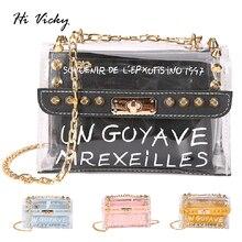 2019 High quality fashion women handbag Black pvc jelly mini crossbody shoulder bag candy color summer messenger bag flap purse