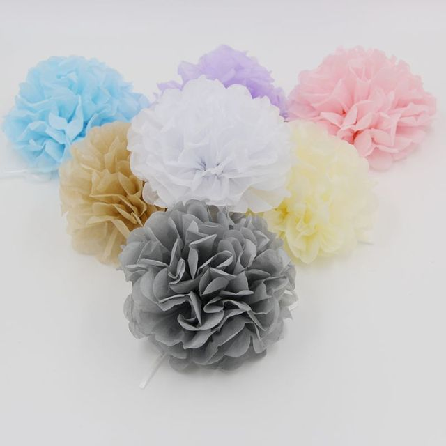 Tissue paper pom poms 50pcs 15cm 30cm artificial flowers paper tissue paper pom poms 50pcs 15cm 30cm artificial flowers paper balls homemade birthday wedding mightylinksfo