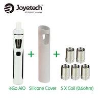 100 Original Joyetech EGo AIO Kit 2ml W BF Coil SS3162 L 0 6ohm AIO Battery