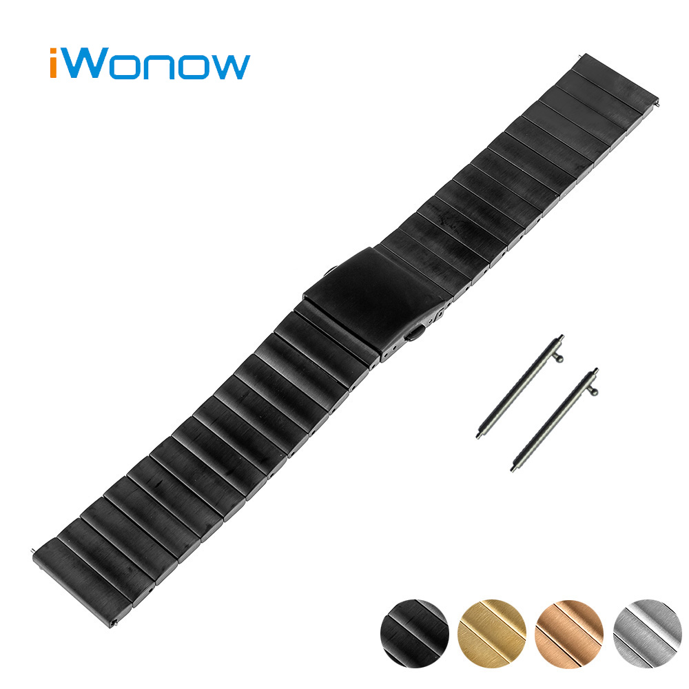Stainless Steel Quick Release Watch Band 22mm for Samsung Galaxy Gear 2 R380 Neo R381 Live R382 Strap Wrist Belt Bracelet + Tool genuine leather watch band 22mm for moto 360 2 46mm 2015 samsung gear 2 r380 neo r381 live r382 strap bracelet black brown red