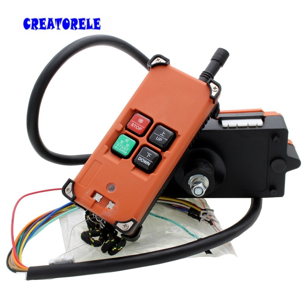 Hot Sale Industrial Universal Radio Wireless Remote Control Distance For Overhead Crane AC/DC free shipping rf21 e1b industrial universal wireless radio remote control for overhead crane