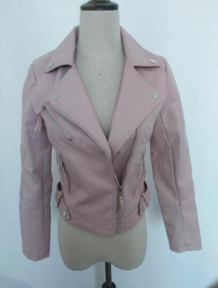 PU Faux Leather   Jacket   Women New High Quality   Basic     Jackets   Short Washed Street Zipper Autumn Winter   Jacket   Female Coat