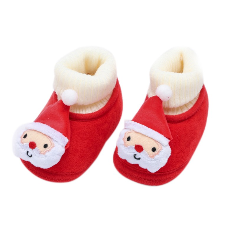 2019 New Winter Baby Flannel Toddler Shoes Baby Boy Girl Christmas Fluff Cotton Shoes Baby Winter Warm The First Walker