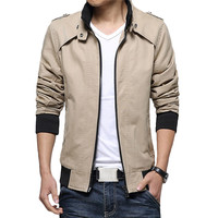 Winter Jacket Men S Casual Jacket Cotton Stand Collar Coats Army Military Outdoors Men S Male
