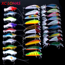 Super Deal 30Pcs Fishing Lure Baits Artificial Shrimp Minnow Lures with Feather Fishing Tackle Accessories Low Price
