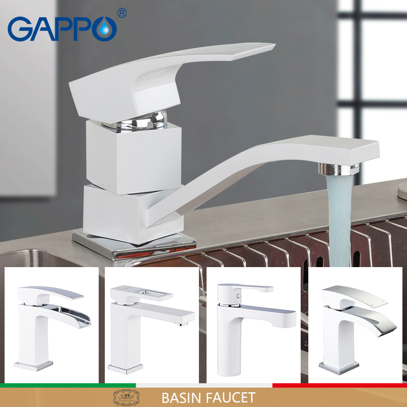 GAPPO white Basin Faucet Bathroom Faucet mixer sink faucets chrome brass water faucets bath basin mixer tap water torneira цена