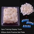 200 PCS A Oval and B Square Natural Nail Tips Trainer Tool Adjustable Nail Art Model Hand Practice DIY Nail Training Tool