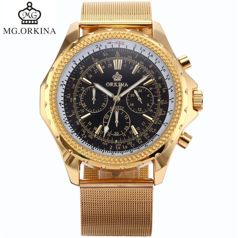 ФОТО Original MG.Orkina Luxury Men's Quartz Day Analog Sport Stopwatch Wristwatch   Gift Box Free Ship