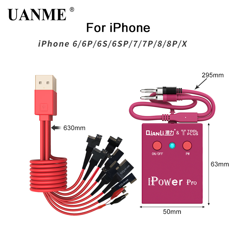 UANME Power Supply Test Cable With ON/OFF Switch iPower Pro for iPhone 6G/6P/6S/6SP/7G/7P/8G/8P/X DC Power Control Test Cable