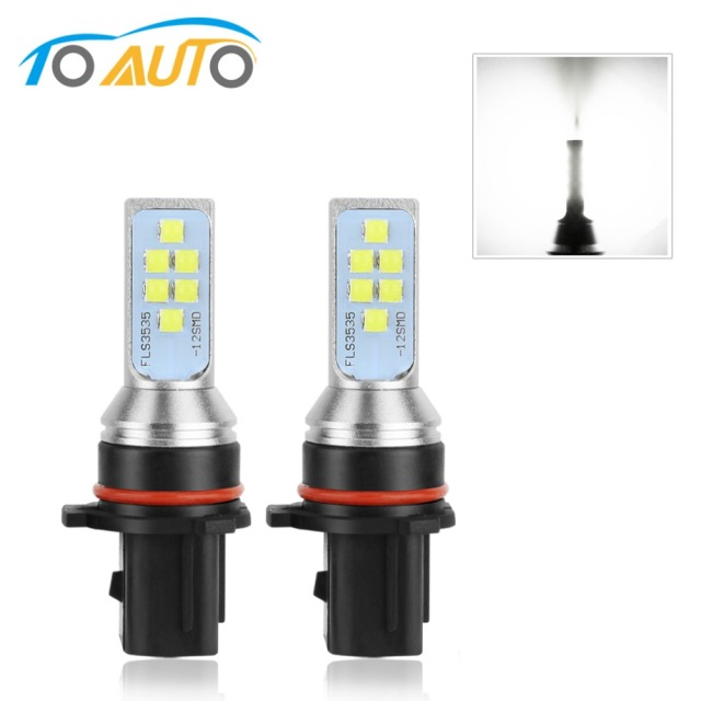 2Pcs H27 Led 880 881 P13W Led Bulb PSX26W H27W 1400LM 6000K White Car Fog Light Driving Day Running Lamp Auto 12V - 24V 6000K