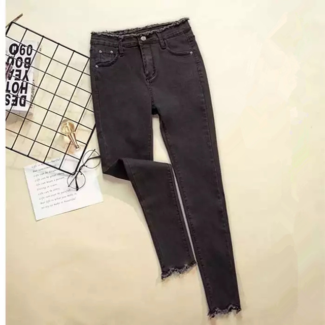 JUJULAND 2019 Jeans Female Denim Pants Black Color Womens Jeans Donna Stretch Bottoms Feminino Skinny Pants For Women Trousers 2