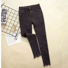 JUJULAND 2018 Jeans Female Denim Pants Black Color Womens Jeans Donna Stretch Bottoms Feminino Skinny Pants For Women Trousers