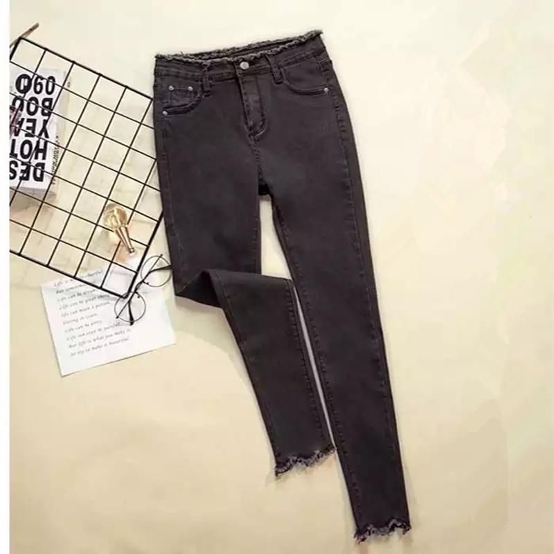 JUJULAND 2019 Jeans Female Denim Pants Black Color Womens Jeans Donna Stretch Bottoms Feminino Skinny Pants