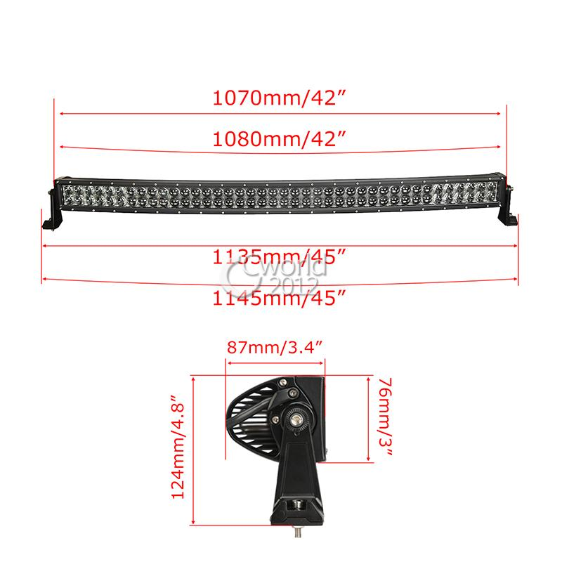 Auxbeam CREE Chips 4D Curved LED Light Bar 42 inch 240W Combo Beam 2pcs 18W Flood aliexpress com buy auxbeam cree chips 4d curved led light bar 42  at alyssarenee.co